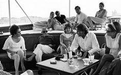 Liz and Richard Burton on the Christina