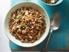 Kasha Salad with Hazelnuts and Feta : Kasha is a form of buckwheat that has been toasted. Although