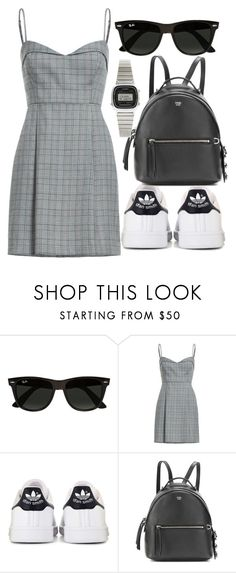 """Untitled #5078"" by beatrizvilar ❤ liked on Polyvore featuring Ray-Ban, adidas, Fendi and Casio"