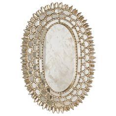 Worlds Away Carmelita Silver Oval Mirror #laylagrayce
