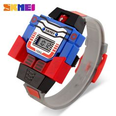 SKMEI Kids LED Digital Children Watch Cartoon Sports Watches Relogio Relojes Robot Transformation Toys Boys Wristwatches