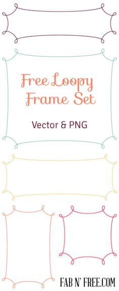 Free Graphic Frames in vector and png. Great for graphic design and digital scrapbooking. Free Frames, Borders And Frames, Free Graphics, Digital Scrapbooking, Digital Papers, Cool Fonts, Free Printables, Illustration, Play Therapy
