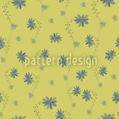 Little Flower Blues Vector Design Spring Blossom, Growing Flowers, Green Backgrounds, Vector Pattern, Vector File, Vector Design, Surface Design, Blue Flowers, Print Patterns