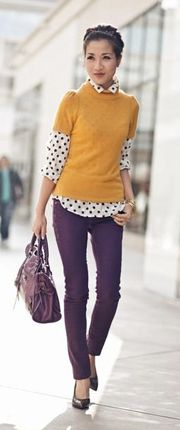 Perhaps a different coloured jumper for me, love the plum and dots