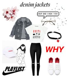 """Denim Jackets Contest"" by seoul-to-soul ❤ liked on Polyvore featuring John Galt and ZeroUV"