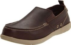 crocs Men's Harborline Boat Shoe crocs. $45.00. Manmade sole. Water-resistant leather upper and rust-resistant eyelets. Nautical style meets the lightweight comfort in the Crocs Men's Harborline Loafer. Croslite material in the midsole maximizes cushioning without weighing you down, while gum rubber herringbone tread on the Croslite outsole increases traction and durability. A premium full-grain leather upper with water-resistant treatment and rust-resistant eye...