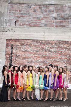 Rainbow wedding party!