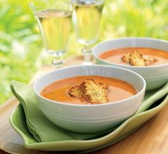 Grill-Roasted Tomato Soup with Parmesan Croutons Recipe Crouton Recipes, Soup Recipes, Roasted Tomato Soup, Roasted Tomatoes, Grilled Roast, Low Sodium Chicken Broth, Plum Tomatoes, Barbecue Recipes, Recipes