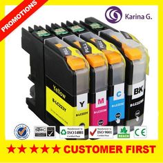 4X Compatible Inkjet Cartridge For Brother LC223 Inks For MFC-J5625DW J4420DW Printer Ink Cartridge EU Market