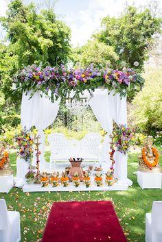 South Indian Wedding Decor Mandap Cape Town
