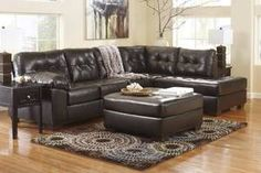 Bonded Leather Sectional Sofa in Brown 2010167