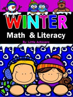 Winter Math and Literacy from Little Achievers on TeachersNotebook.com -  (85 pages)  - Winter Math and Literacy Printables (85 pages).