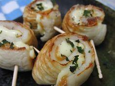 焼きとそのままと両方楽しめる♪ ちくわの梅チーズ巻き焼き | 花ぴーのあてレシピ