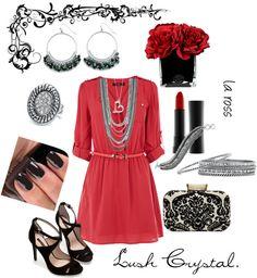 """Lush Crystal Jewelry by Cookie Lee"" by larossjewelry on Polyvore www.CookieLee.biz/LisaRoss"