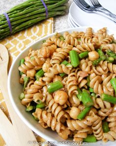 Asparagus and Chickpeas Pasta Salad with a Tahini Dressing (Recipe ...