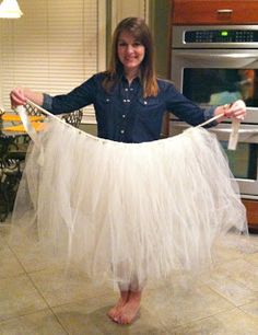 Adult Tulle Skirt for tooth fairy, fairy godmother, etc, costume