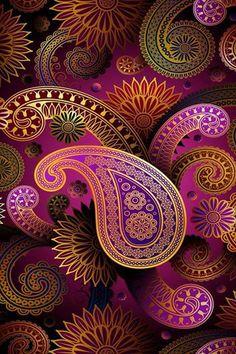 Purple , Gold , Green