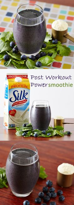 Post Workout Power Smoothie - power up after your workout with Silk, fruit and veggies! #SilkSmoothie