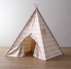 Awning Stripe Canvas Play Tent, baby boho kids bohemian teepee
