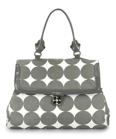 Dots Dove Gray Brooke Diaper Satchel | Daily deals for moms, babies and kids