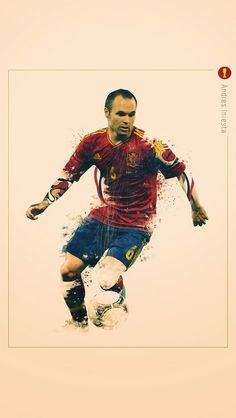 Andres Iniesta - #football World Cup iPhone wallpaper