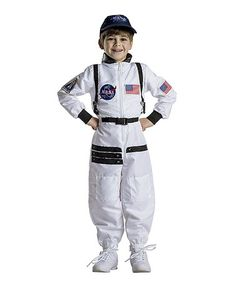 Look what I found on #zulily! White Astronaut Dress-Up Set - Kids #zulilyfinds