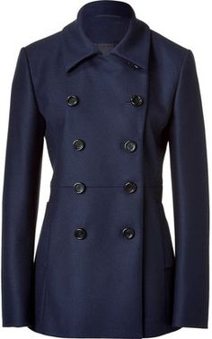 HugoThe Fasiko Dark Blue Double Breasted Short Coat