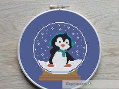 Hey, I found this really awesome Etsy listing at https://www.etsy.com/listing/210795326/christmas-cross-stitch-pattern-penguin