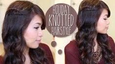 holiday party hair tutorial - YouTube