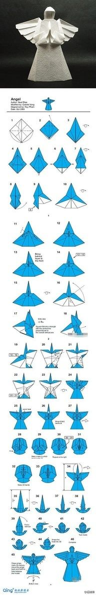 'Origami Little Angel' quite complex compared to other origami Angel models - beautiful wings