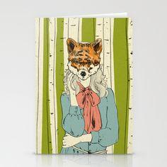 Foxy lady Stationery Card