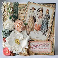 Vintage Ladies Card Wedding Card Love Card by KillamCreativePaper