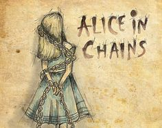 Alice in Chains – Alice in Wonderland Framable print featuring original artwork music literature lewis carroll – Rock Music Papa Roach, Breaking Benjamin, Scott Weiland, Rock Posters, Band Posters, Music Posters, Lewis Carroll, Ziggy Stardust, Garth Brooks