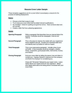 Cocktail Waitress Resume How To Write A Good Resume  Cover Latter Sample  Pinterest