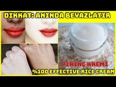 DİKKAT: AŞIRI BEYAZLATAN PİRİNÇ KREMİ !1 KAŞIK PİRİNÇLE LEKE GİDERİCİ CİLT BEYAZLATICI KREM YAP - YouTube Korean Face Cream, Creme, Youtube, Whitening, Eye Makeup, How To Remove, Bleach, Attention, Whiten Skin