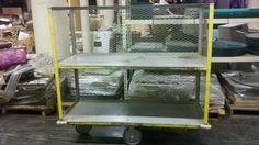 Industrial (2) Shelf Metal Storage Cart - Listing # 2263