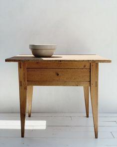 Primitive Side Table — NEUSTADT STUDIO Farmhouse Design, Rustic Farmhouse, R Colors, Farmhouse Side Table, Paisley Design, Simple House, Furniture Collection, Console Table, Primitive