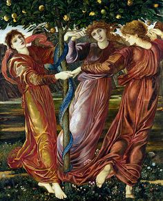 Garden Hesperides (Maria Zambaco as one of the daughters of Night and Darkness) - Edward Burne-Jones (1833-1898)