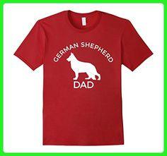 Mens German Shepherd Dad T-Shirt XL Cranberry - Relatives and family shirts (*Amazon Partner-Link)