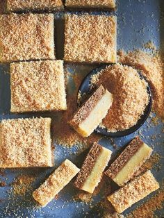 Lemon and macadamia slice - Donna Hay 13 Desserts, Delicious Desserts, Dessert Recipes, Yummy Food, Tasty, Lemon Recipes, Sweet Recipes, Baking Recipes, Donna Hay Recipes Baking