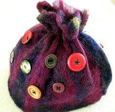 Felted Tea Cosy with Buttons
