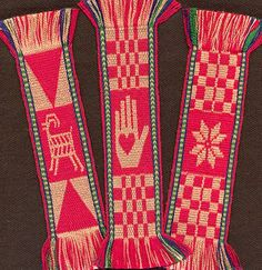 Tablet Weaving | Double-Faced Bookmarks | Linda Hendrickson