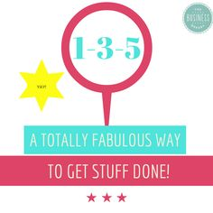 The 1-3-5 way to get stuff done | The Business Bakery - Julia BickerstaffThe Business Bakery – Julia Bickerstaff