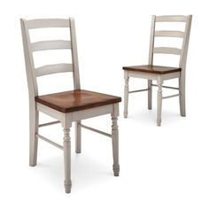 Mulberry Distressed Two Tone Dining Chair - Antique White (Set of 2) : Target
