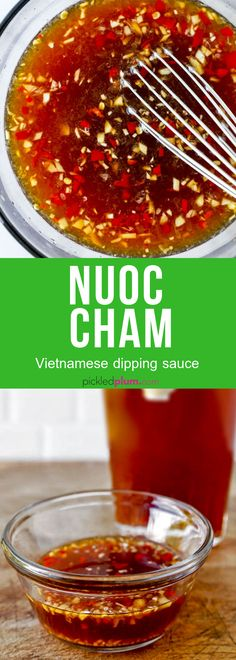 Nuoc Cham (Vietnamese Dipping Sauce) Nuoc Cham Recipe (Vietnamese Dipping Sauce) Use it on shrimp fish banh xeo meats or tofu this nuoc cham sauce pairs well with so many dishes! Banh Xeo, Sauce Recipes, Cooking Recipes, Healthy Recipes, Recipes Using Fish Sauce, Cooking Bacon, Cooking Kale, Cooking Light, Drink Recipes