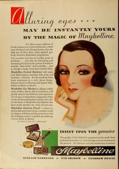 VINTAGE MAYBELLINE ADS | Maybelline ad