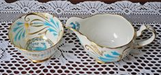 Royal Chelsea Large Cream And Sugar, Bird Of Paradise, Blue Bird by Collectitorium on Etsy Tostadas, Cream And Sugar, Bird Design, Blue Bird, Chelsea, Tea Cups, Paradise, Christmas Gifts, Gift Ideas