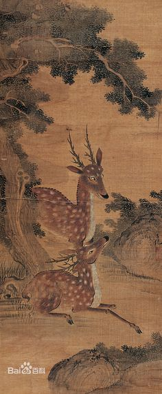 Lǚ Jì(呂紀). Lü Ji first studied the painting style of Bian Wenjin (ca. 1356-ca. 1428), an important early Ming court painter of bird-and-flower subjects. Lü also once had the opportunity to view and copy famous paintings of the Tang and Song dynasties at the residence of the Imperial Physiognomist, Yuan Zhongche (1376-1458), who hailed from the same hometown.