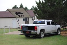 Kansas State University approved/licensed tail-gating shade.  Sold by DLD Shade Solutions.  Kansas made product.