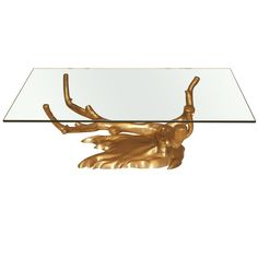 Tree Form Coffee Table in Cast Brass